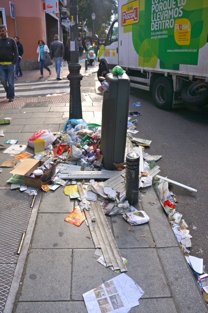 Sanitation Strike in Madrid