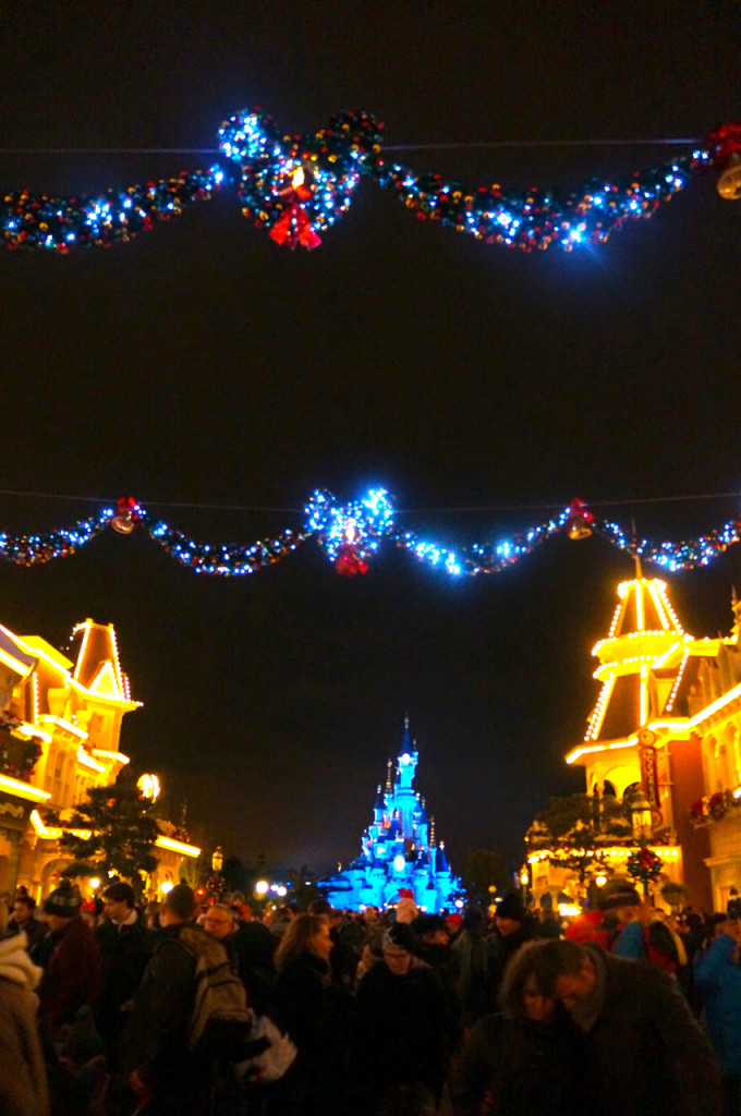 Christmas at Disneyland Paris is festive and full of celebration.