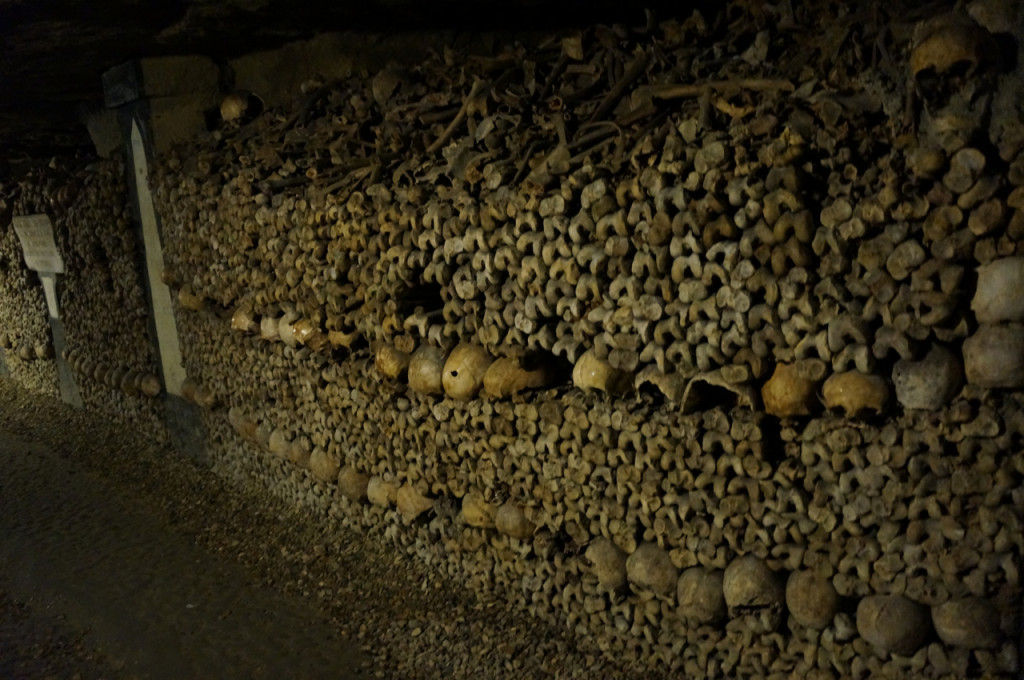 Bones! Spooky surprises in the Catacombs of Paris.