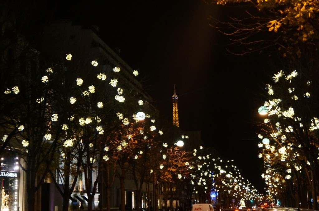 Christmas decorations in Paris.