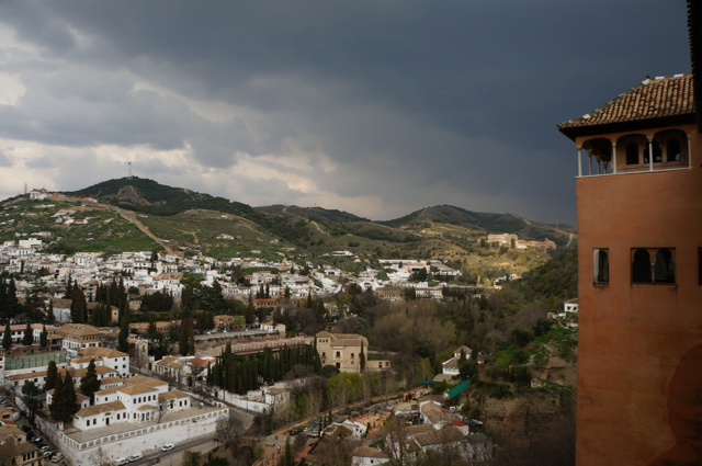 The Alhambra overlooks the city of Granada.