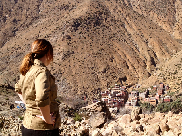 look out at friendly villages on a Marrakech Day Trip to Ourika Valley