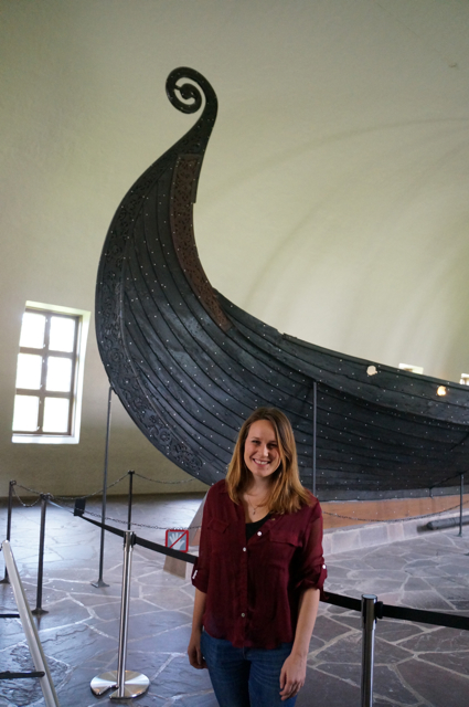 Lauren Salisbury, travel blogger of Something In Her Ramblings, sees a viking ship with the Oslo City Pass.