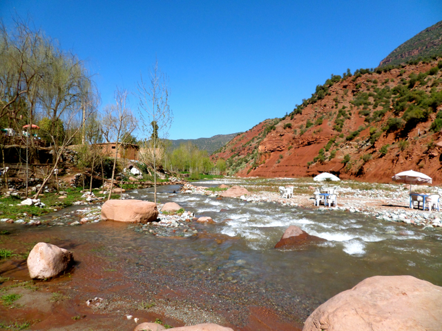 Rushing rivers await you on a Marrakech Day Trip to Ourika Valley