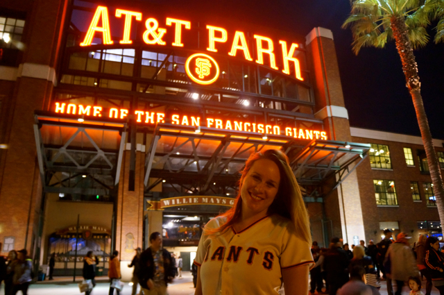 Travel blogger Lauren Salisbury takes a San Francisco Giants Ballpark Tour