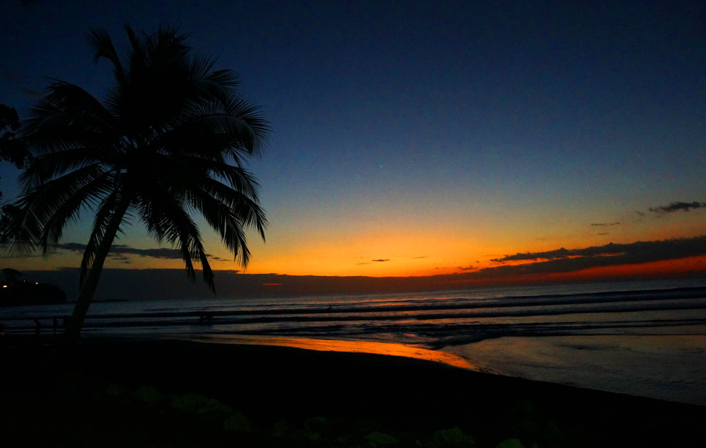 South Beach In Jaco Costa Rica Is A Great Place For Sunset Viewing