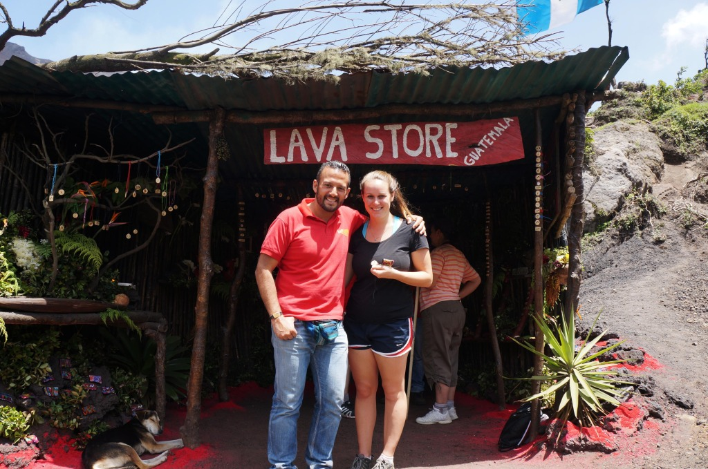a visit to the lava store at pacaya volcano