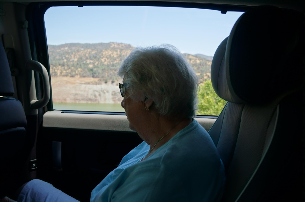 grandma on a california scenic drive