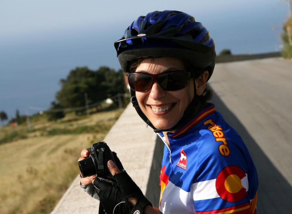 karen la rosa smiles on a solo trip to sicily