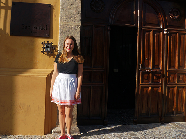 lauren outside where to stay in antigua guatemala hotel san rafael