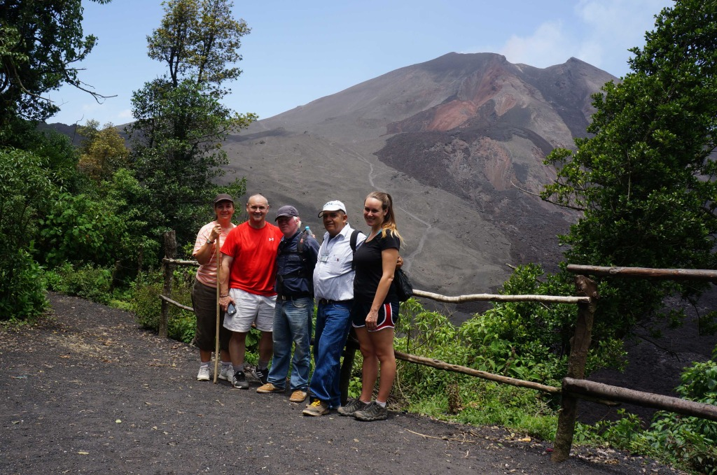 our group at pacaya volcano