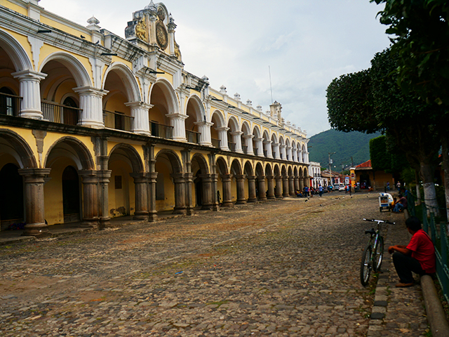 photos of antigua guatemala park palace