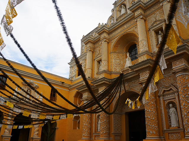 photos of antigua guatemala yellow