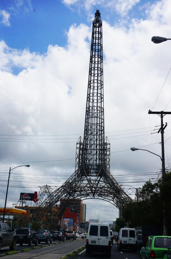 reasons to visit guatemala- eiffel tower in downtown