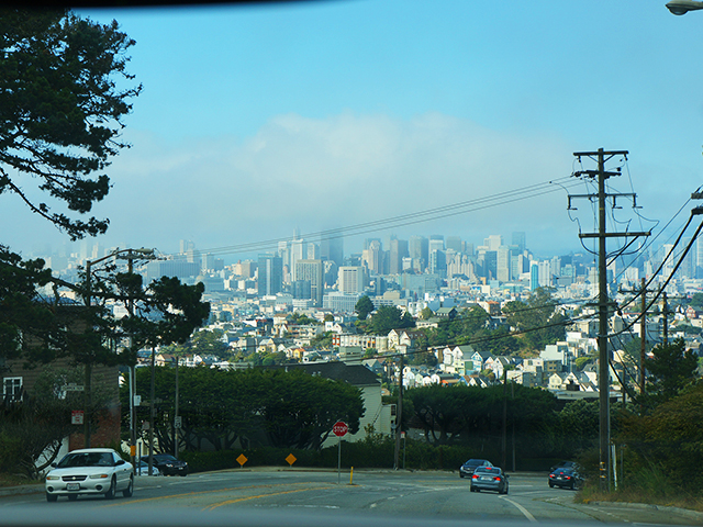 san francisco on a california scenic drive