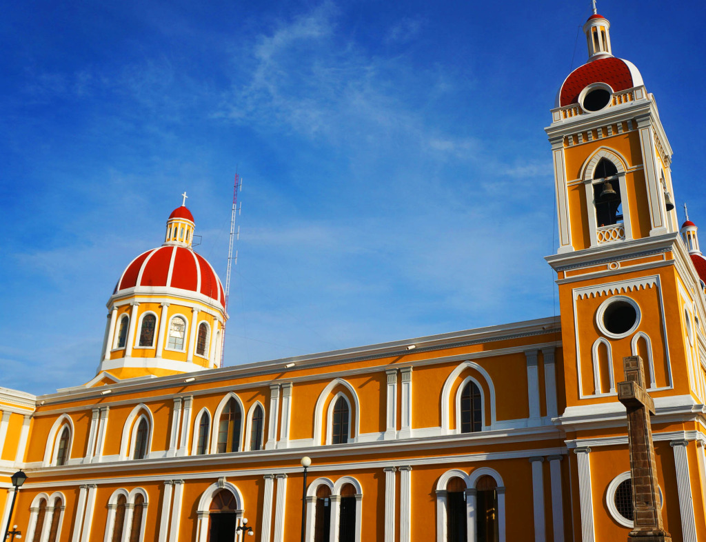 Granada Nicaragua in photos cathedral side shot