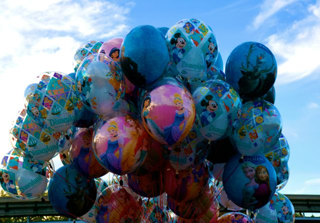 celebrating disneyland 60th anniversary in photos balloons