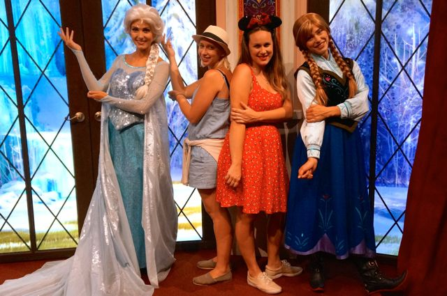 Top must sees during disneylands 60th anniversary meet anna and elsa celebrating disneyland 60th anniversary in photos frozen sisters m4hsunfo