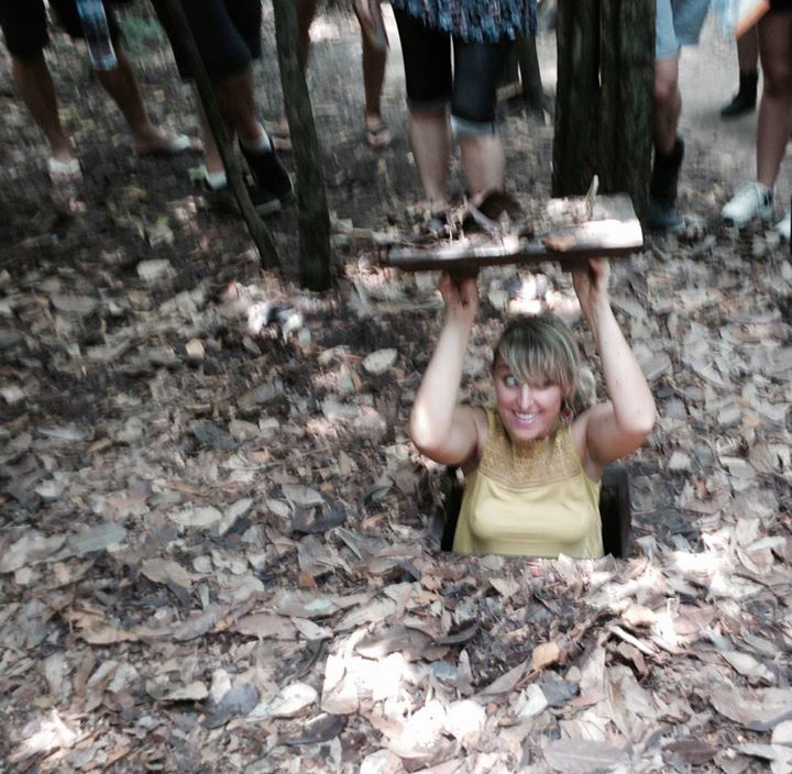 solo trip to Vietnam cu chi tunnels
