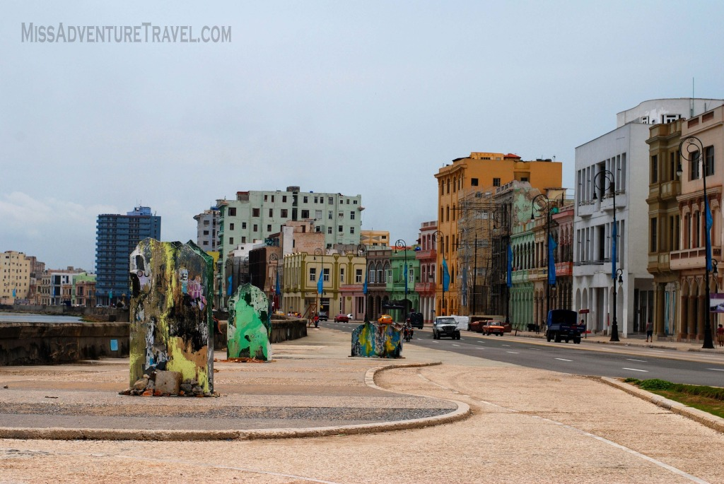 Solo Travel in Cuba Malecon Watermark