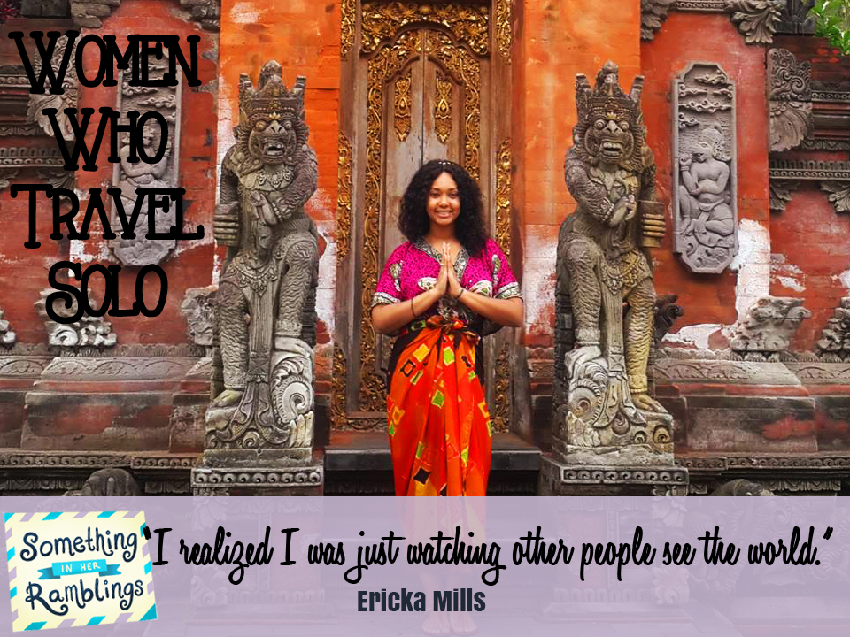 women who travel Ericka Mills