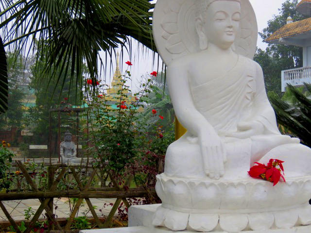 Solo travel in Nepal Buddha Sculptures Lumbini Nepal
