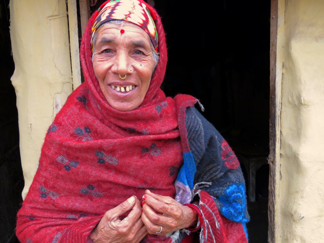Solo travel in Nepal Elder Woman Lumbini Nepal