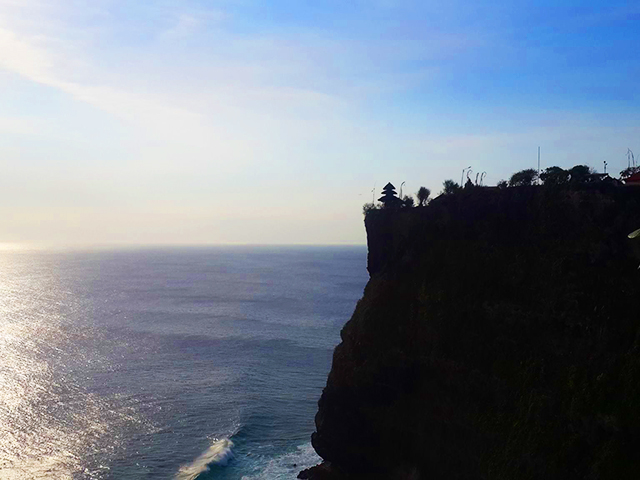 solo travel in Bali cliffs of Bali