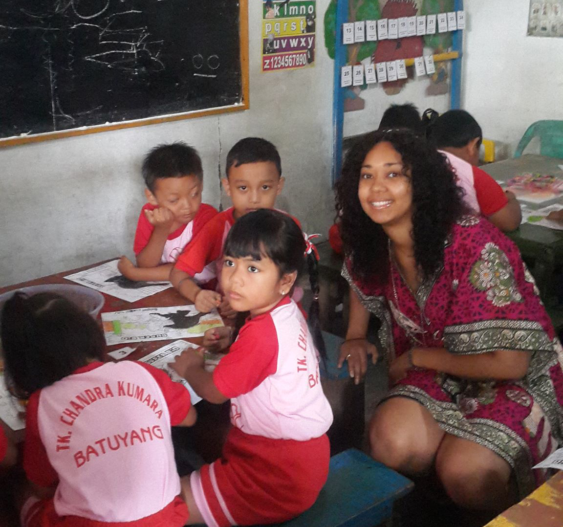 solo travel in Bali teaching