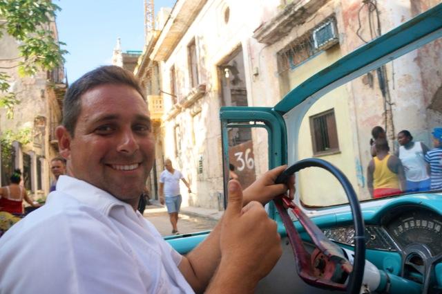 a solo trip to cuba taxi