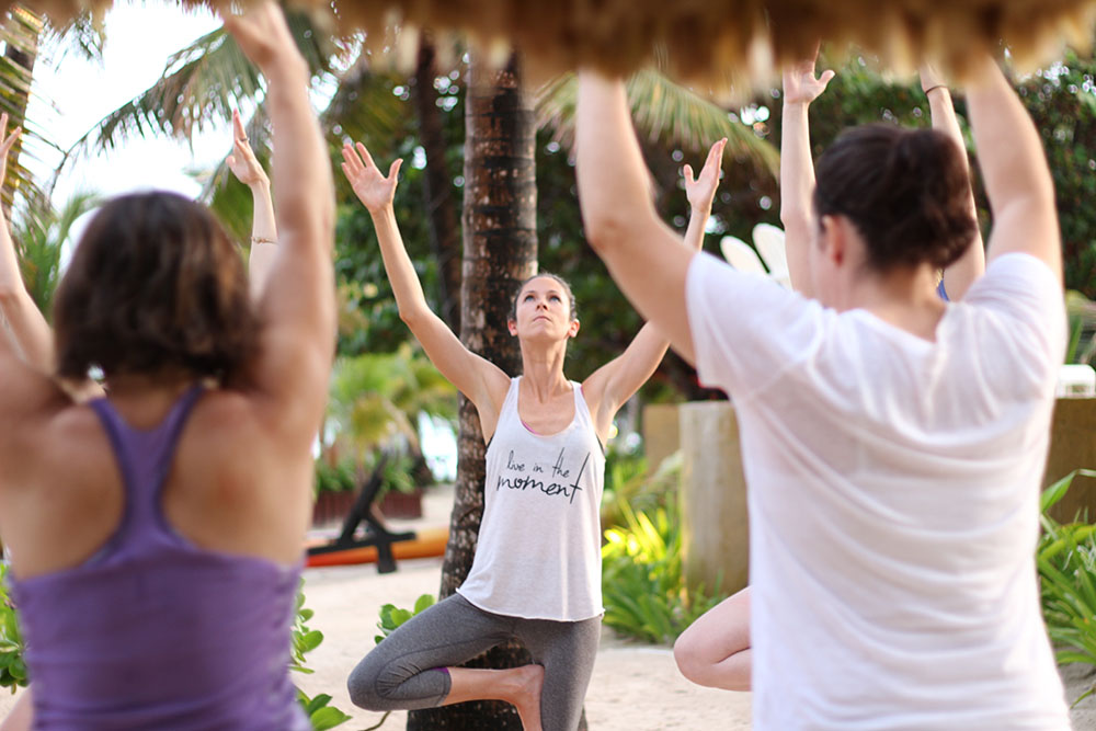 daily yoga at the reset retreat