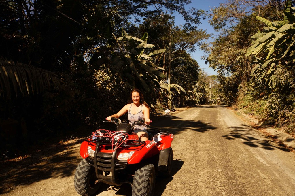 driving north on an atv rental in santa teresa