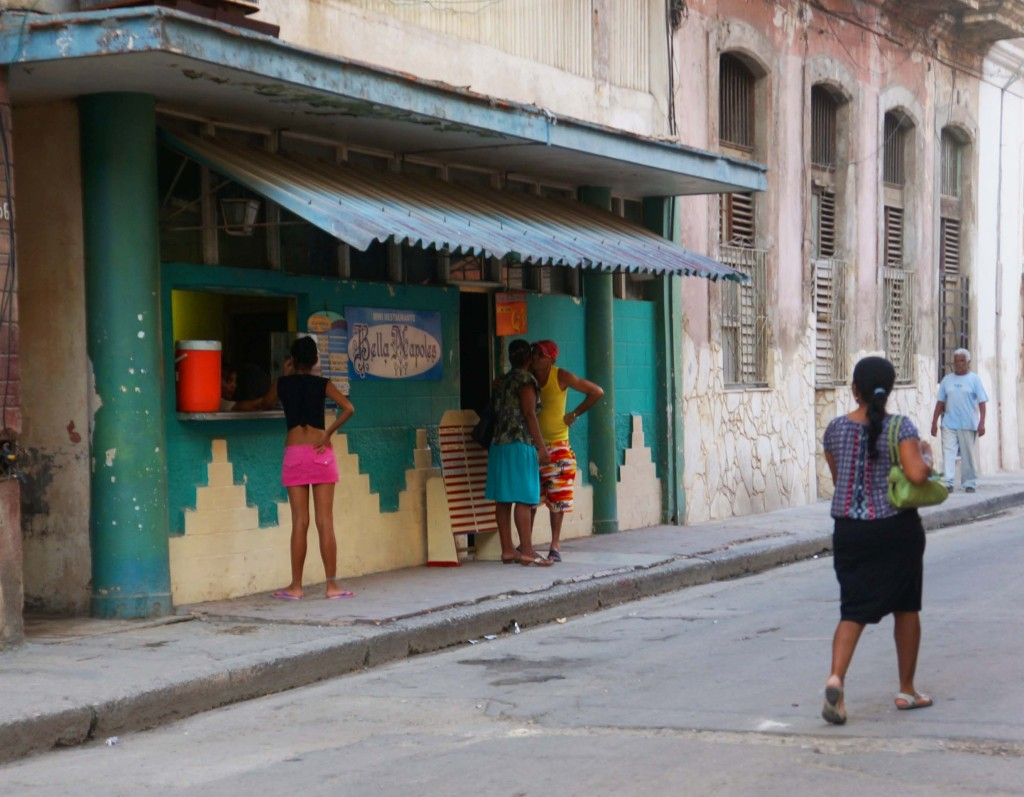 streets of havana women near shop