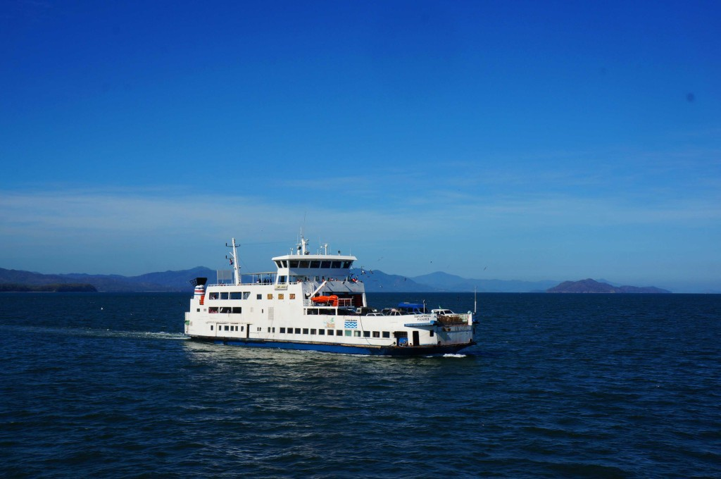 ferry to waterfalls in montezuma