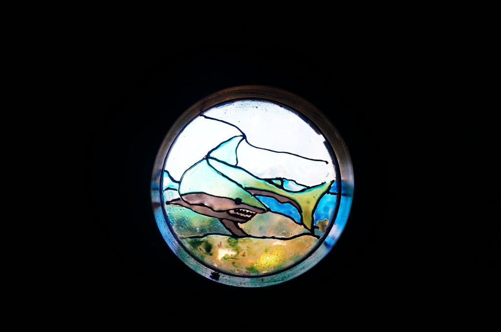 stained glass rancho armadillo