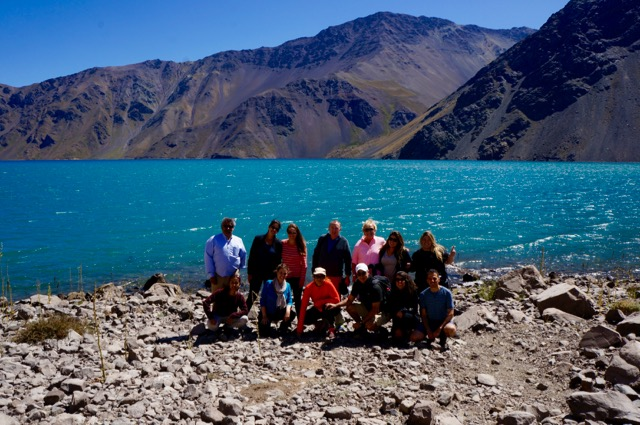 Group visit the andes in Chile