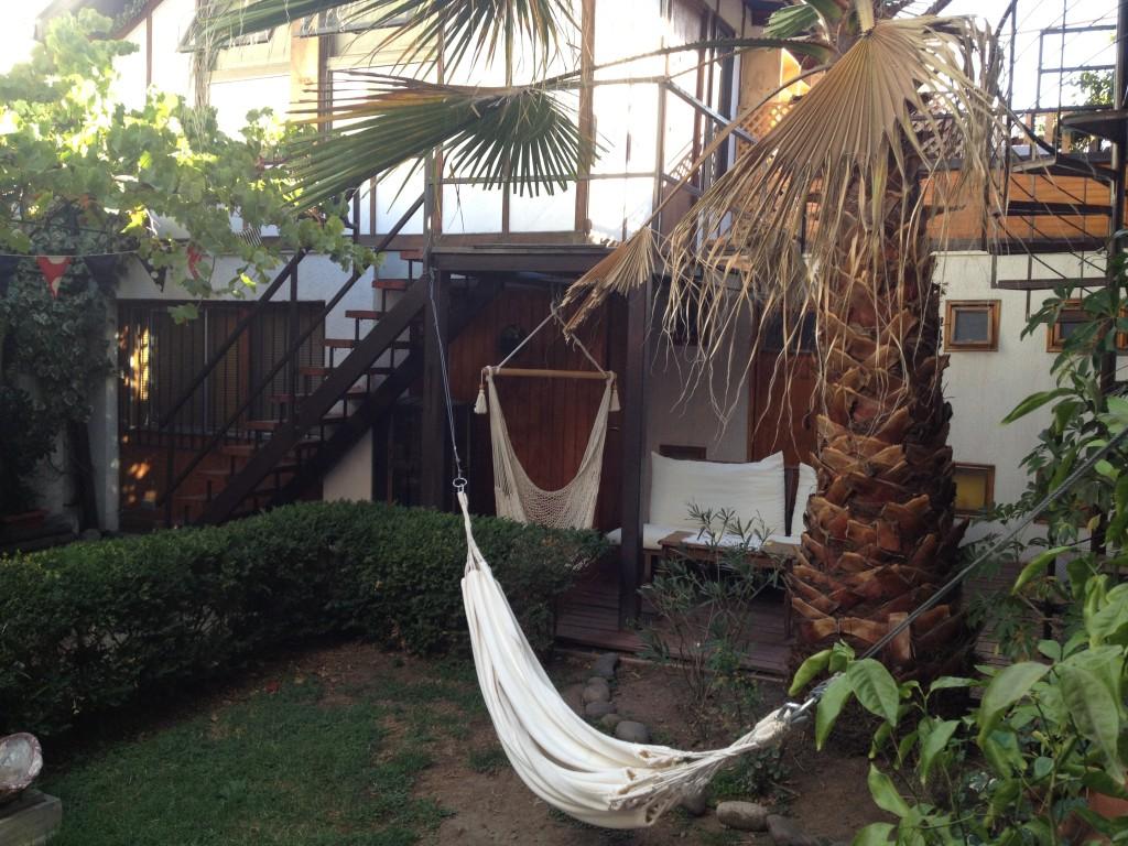 hammock at alma hostel in santiago