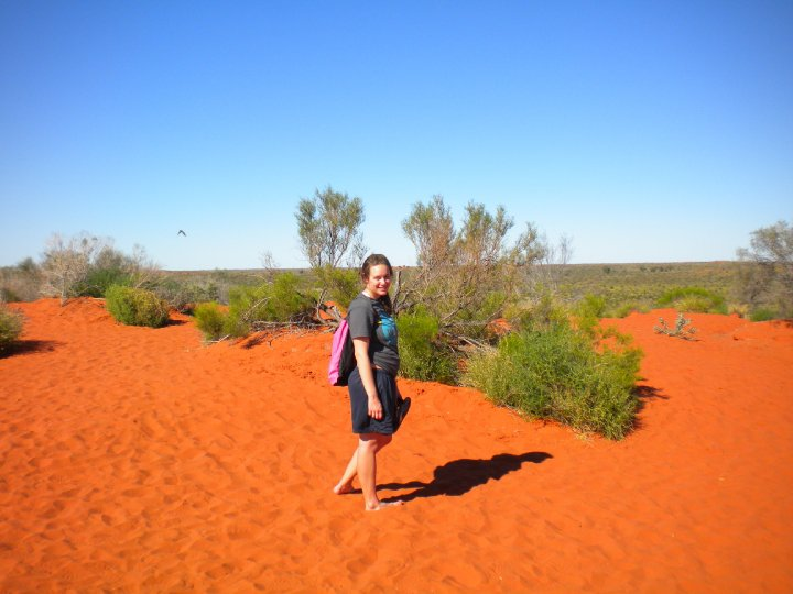 red sands of the outback