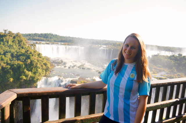 Lauren at Iguazu