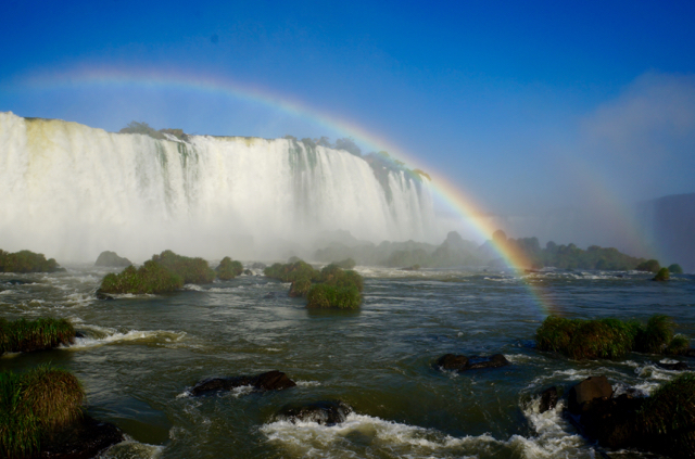 Rainbow at Iguazu Falls