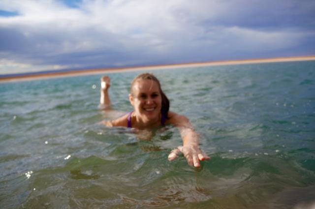 Laguna Cejar swimming