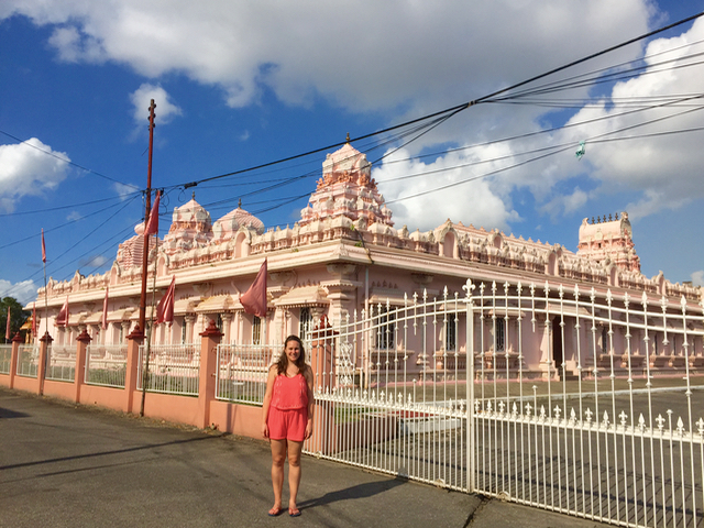 Indian Influences in the Caribbean pink temple trinidad
